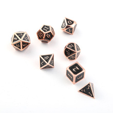 лучшая цена Creative dnd Metal Dice Role-Playing Game Props Dice 7-Piece Bar Drinking Party Table RPG Game Board Entertainment Products