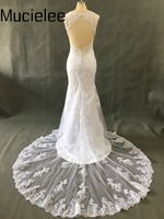 Vestidos De Novia Open Back Lace Wedding Dresses Vintage Bridal Dresses Romantic Robe De Mariage 2016