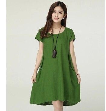 Vestito verde ragazza