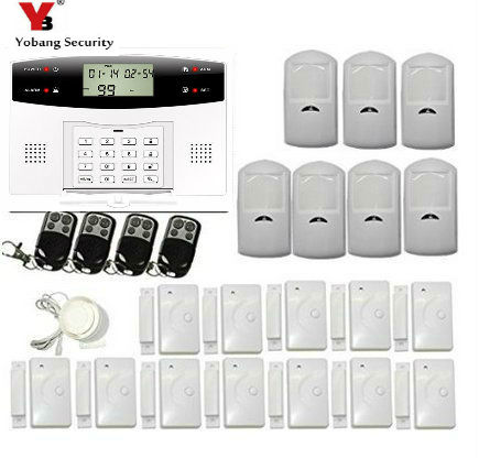 YobangSecurity Wireless LCD GSM Autodial SMS Home House Security Burglar Intruder Alarm Russian Spanish French Italian Czech yobangsecurity russian spanish french italian czech portuguese alarm gsm sms home burglar security wireless gsm alarm system