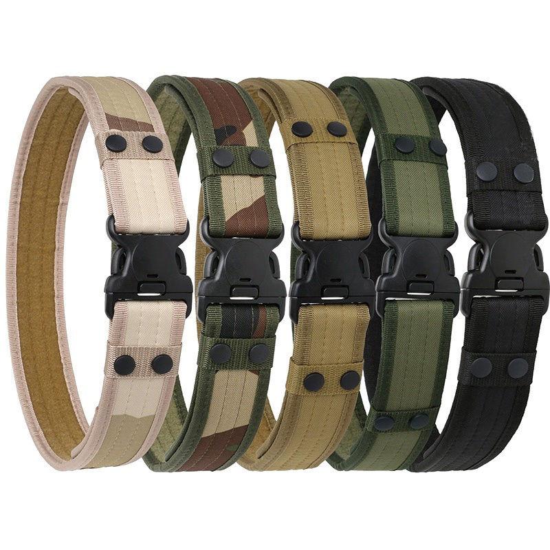 foto ufficiali 54f49 30c12 Tactical Belt uomo Cinture Militari Dell'esercito Addensare Canvas Tactical  Outdoor Cintura Regolabile Caccia Di Emergenza Rigger Sopravvivenza in ...