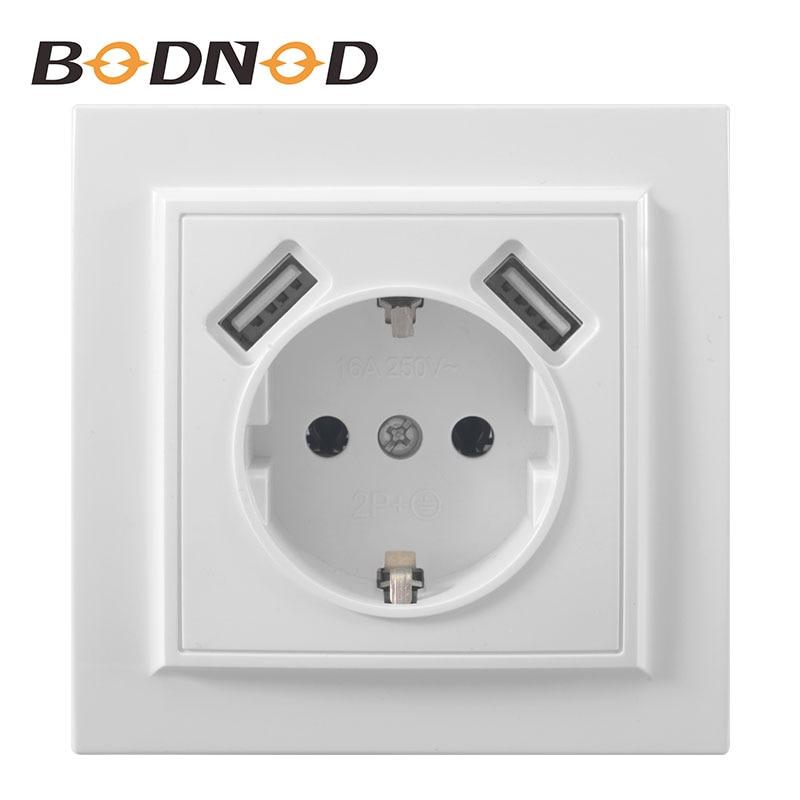 Double Ports USB et prise USB murale électrique livraison gratuite adaptateur chargeur ue socket5 V 2A, EP-19 de charge de quai d'alimentation de commutateur
