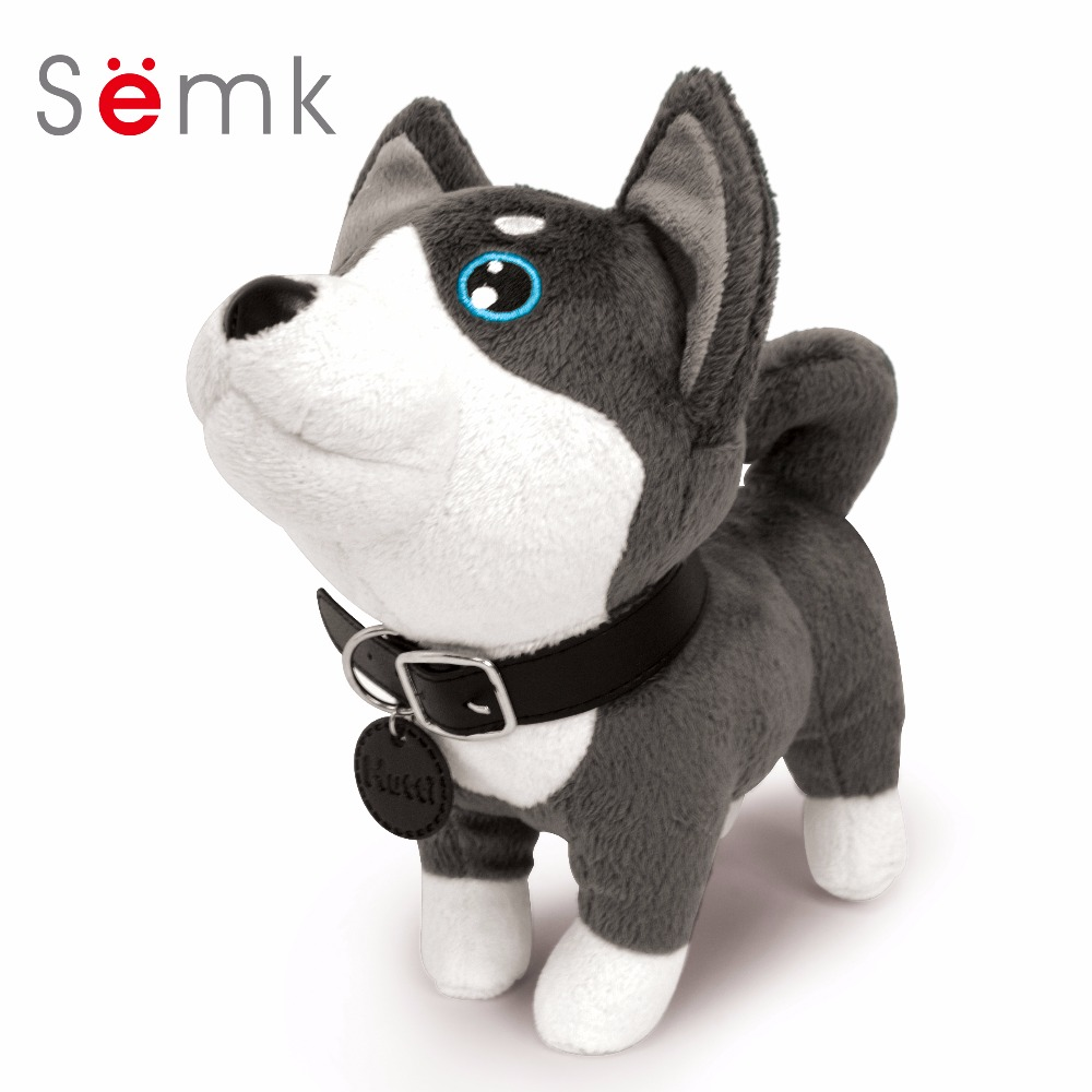 Semk Cute Plush Dog Toys Cartoon Soft Stuffed Animal Dolls Children Birthday Gift color monkey plush toy soft toys for girls birthday gift dolls anime brinquedos kawaii animal stuffed toys plush cute 70c0525