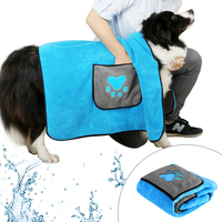 Dog Bath Towel Bathrobes Absorbent Water Shower Towels Blanket Quick Dry Dogs Blankets Mat Paw Print Pet Grooming Products