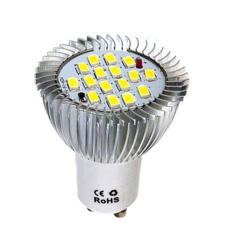 LED Light Bulb GU10 7W 16 LED 5630 SMD Energy Saving Spotlight Bulb Home Lamp Pure White Chandelier Lighting Fixture 85-265V 15 w e27 cool white 15leds 1w highpower led energy saving cfl bulb lamp spotlight 220v 240v