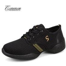 Comemore осенние черные кроссовки женские спортивные туфли женские Танцевальные Кроссовки Женская обувь для танцев хип-хоп джазовые кроссовки для женщин девочек