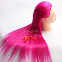 Red Yaki Hair Mannequin Head Hairdressing Professional Styling Head Female Manikin Doll Wig Training Head Manik
