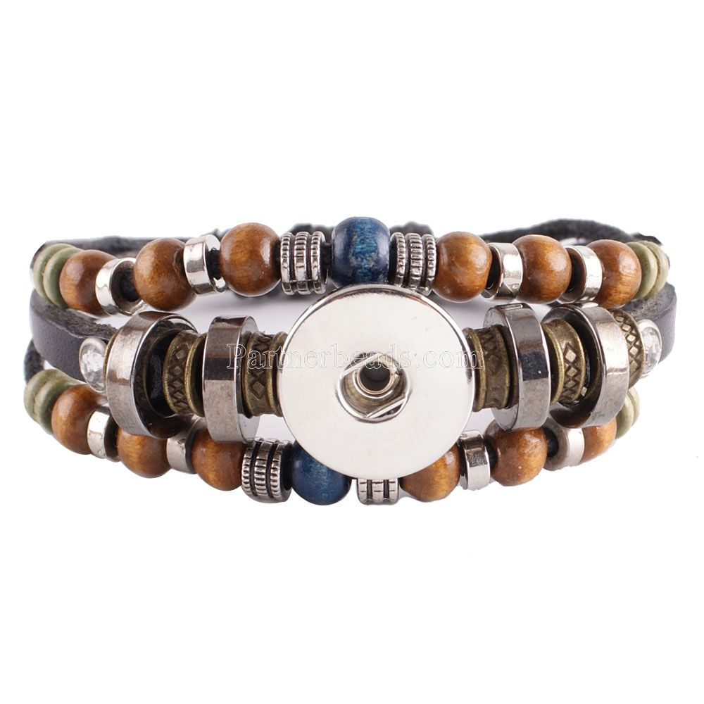 Carter Love Bracelet Bangles 18mm Ginger Snap Button Retro Pu Bracelet Female Sterling Jewelry Watches Women Mens Diy Kc0235