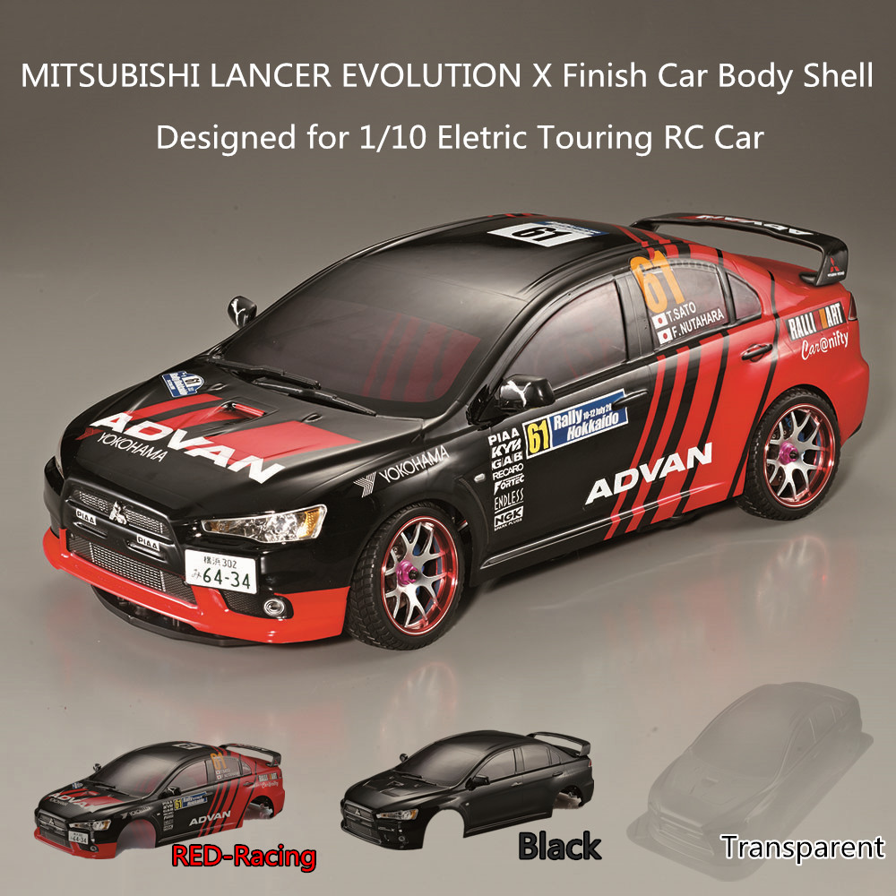 US $45 88 50% OFF RC Car Body Shell Frame Kit for Mitsubishi Lancer  Evolution X 1/10 Electric Touring RC Cars Rally Racing DIY Parts-in Parts &
