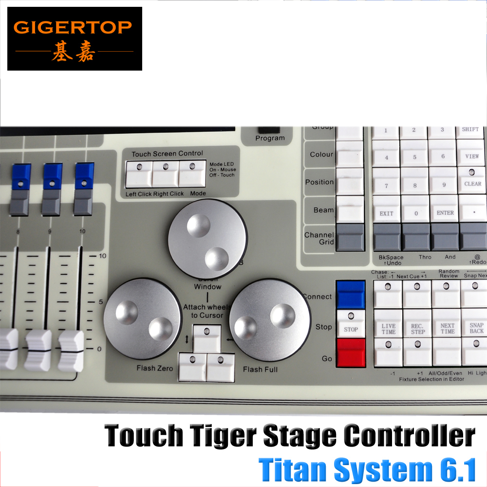 Flight Case Pack High Quality Original Tiger Touch DMX Controller Titan 6.1 System LCD Touch Screen,Tiger Touchable 15.4 Screen dmx512 digital display 24ch dmx address controller dc5v 24v each ch max 3a 8 groups rgb controller