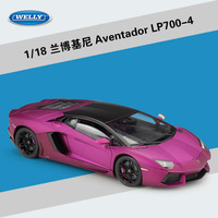 WELLY 1 18 High Quality Matte Luxury Rambo LP700 Racing Car Diecast Alloy Car Model Toy