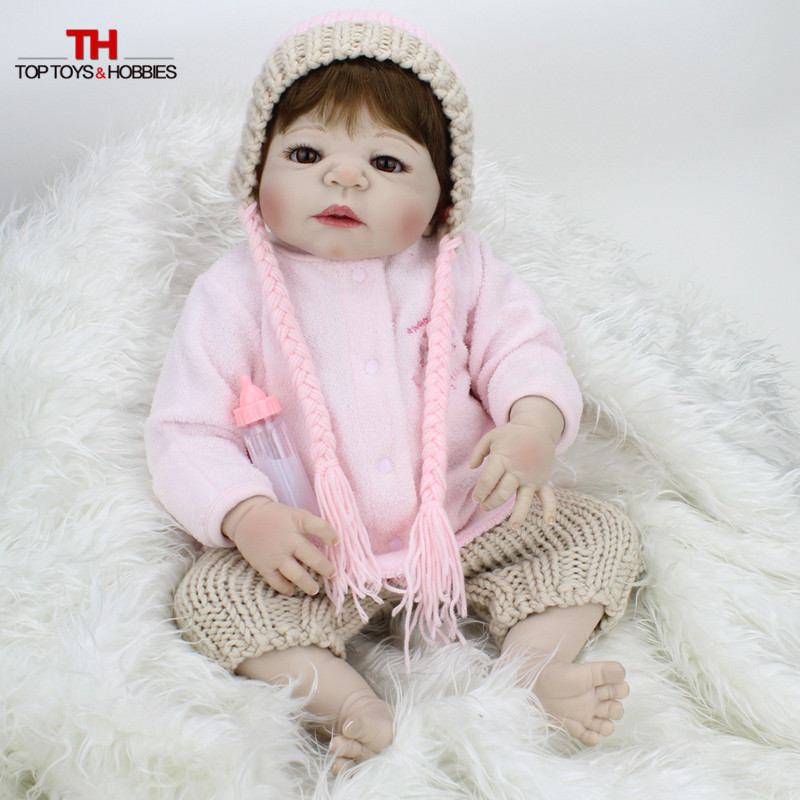 все цены на 55cm Reborn Bebe Dolls Full Silicone Vinyl Baby Doll Reborn Lifelike Princess Girls Bebe Dolls Kids Birthday Gift Girls Toys онлайн