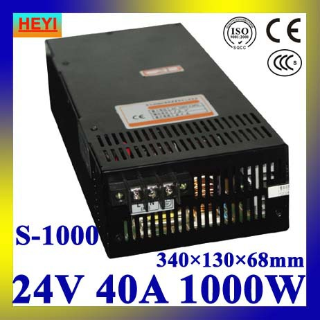 LED power supply 24V 40A 100~120V/200~240V AC input single output switching power supply 1000W transformer 24V single switching switch power supply output 3 1a 24v input 115 230 vac co2 laser led