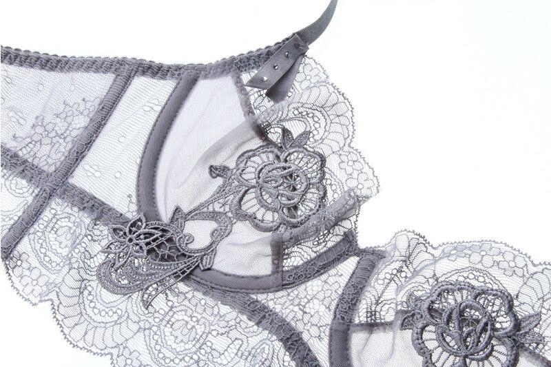 Bộ đồ lót bralette charm không mouse ren thêu hoa cao cấp 5076 - nội y siêu sỉ www.noiysieusi.com