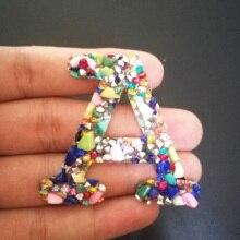 A-C, 1 шт., цветные каменные стразы, буквы, железные нашивки для одежды, полосатая одежда, наклейка, аппликация, сделай сам, логотип, ручная работа