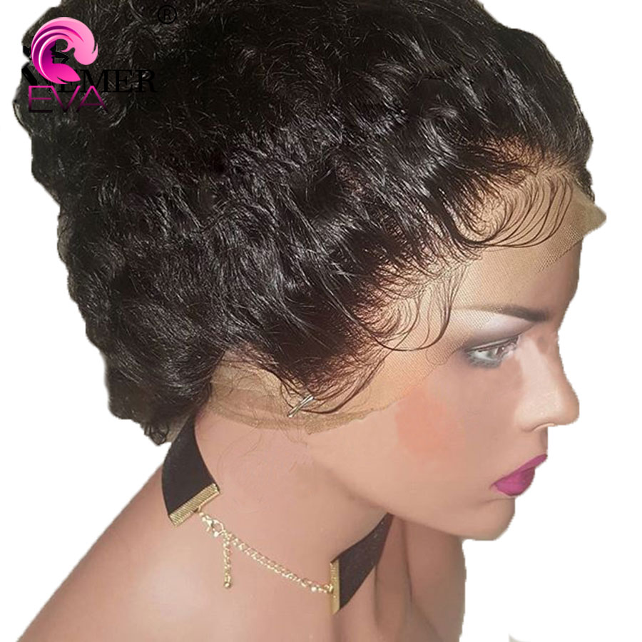 Eva Hair Water Wave Glueless 13x6 Lace Front Human Hair Wigs Pre Plucked With Baby Hair Brazilian Remy Hair Wigs For Black Women(China)