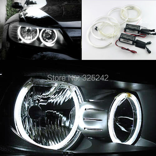 For BMW 3 Series E90 Non projector 2005 2008 Excellent angel eyes kit Ultra bright headlight