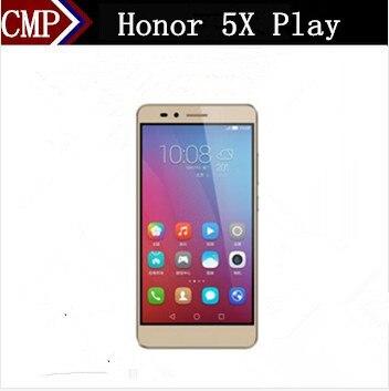 """Цена за Dhl быстрая доставка huawei honor 5x play 4g lte сотового телефона msm8939 android 5.1 5.5 """"FHD 1920X1080 3 ГБ RAM 16 ГБ ROM Отпечатков Пальцев"""