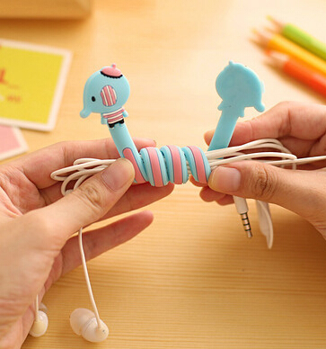 [4Y4A] 50pcs/Lot Various animal panda lovely finishing headphone cable power line table clean cartoon