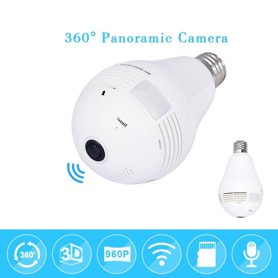 960P Bulb Light Wifi IP Camera E27 plug Home Wireless Security 1.3MP Fisheye 360 Degree Panoramic P2P Audio Surveillance Camera960P Bulb Light Wifi IP Camera E27 plug Home Wireless Security 1.3MP Fisheye 360 Degree Panoramic P2P Audio Surveillance Camera
