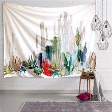 Природные кактус полиэстер гобелен настенный в богемном стиле хиппи Бросить Покрывало Общагу Home Decor tapiz сравнению тела bohem A20