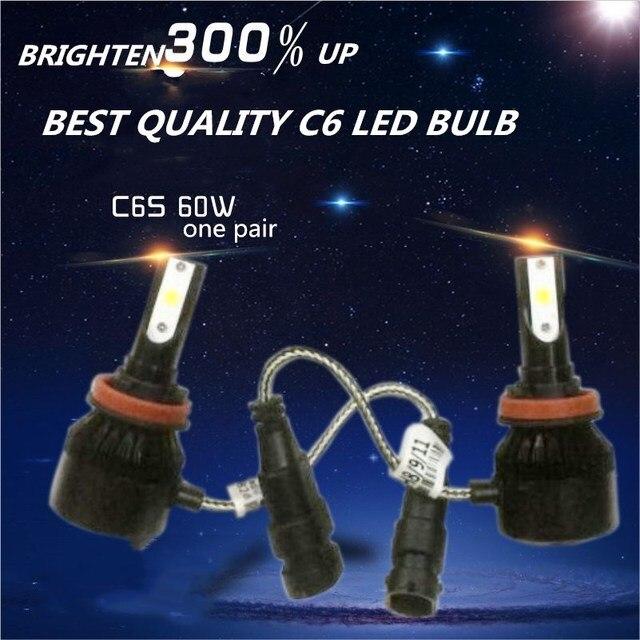CHEAPEST DLAND C6S AUTO LED BULB KIT LIGHT 60W 6400LM HEADLIGHT BEST C6 LED LAMP CONVERSION H1 H3 H4 H7 9006 9005 H8 H11 H13
