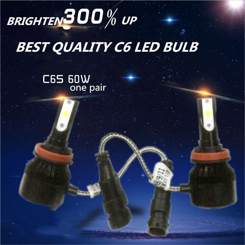 CHEAPEST DLAND C6S AUTO <font><b>LED</b></font> BULB KIT LIGHT 60W 6400LM <font><b>HEADLIGHT</b></font> BEST <font><b>C6</b></font> <font><b>LED</b></font> LAMP CONVERSION <font><b>H1</b></font> H3 H4 H7 9006 9005 H8 H11 H13 image