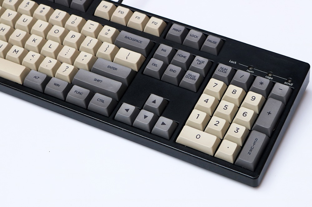 Outer space gray XDAS profile keycap 108 dye sublimated Filco/DUCK/Ikbc MX  switch mechanical keyboard keycap,Only sell keycaps