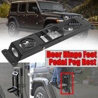 1/2pc Car Folding Door Hinge Foot Pedal Peg Rest For Jeep For Wrangler JK 2007 2017 2/4dr Door Hinge Step Metal Folding Foot Peg