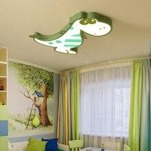Потолочные светильники для детской спальни с изображением динозавра из мультфильма для мальчиков и девочек, потолочный светильник, современный светодиодный потолочный светильник с изображением животных для детей