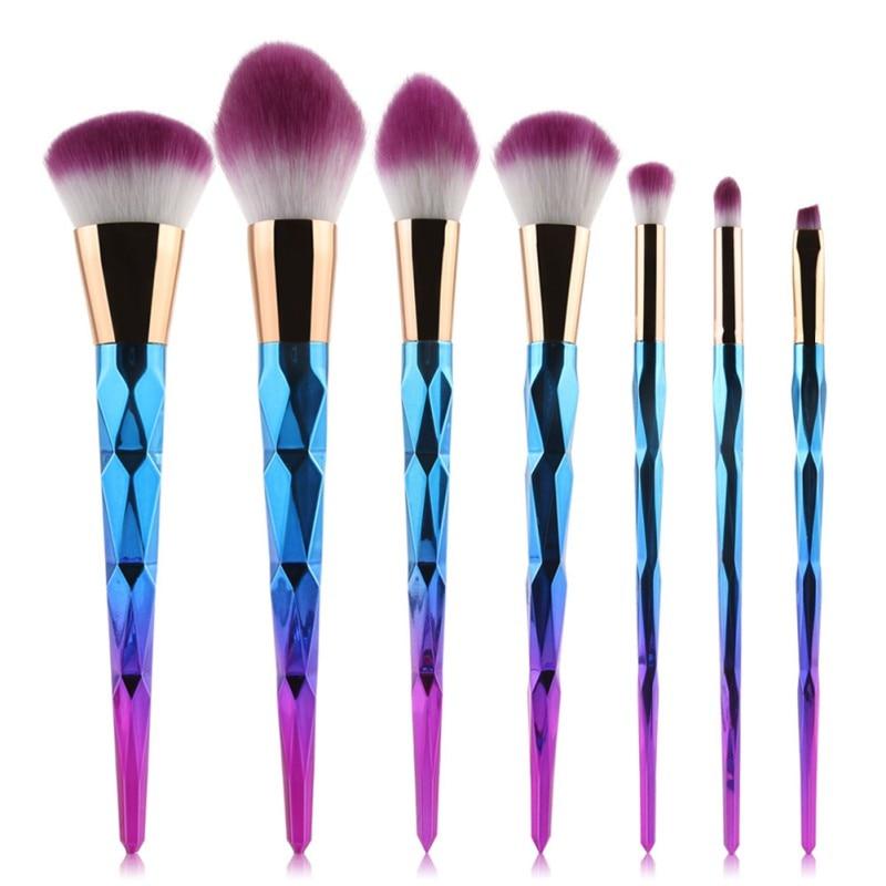 5/7/10pcs Makeup Brushes Rhinestone  maquiagem Sets Spiral Handle Cosmetic Foundation Eye shadow Blusher Powder Blending Brush мусс schwarzkopf professional glamination plumping shine mousse