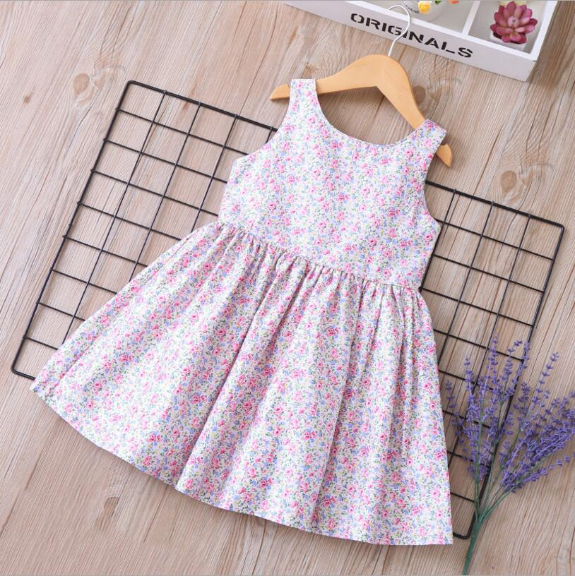 Child Girl Dress 2019 Girls Summer Fashion Floral Print Elegant Party Tutu Dress Baby Carnival Dress Costumes For Children 2-7Y