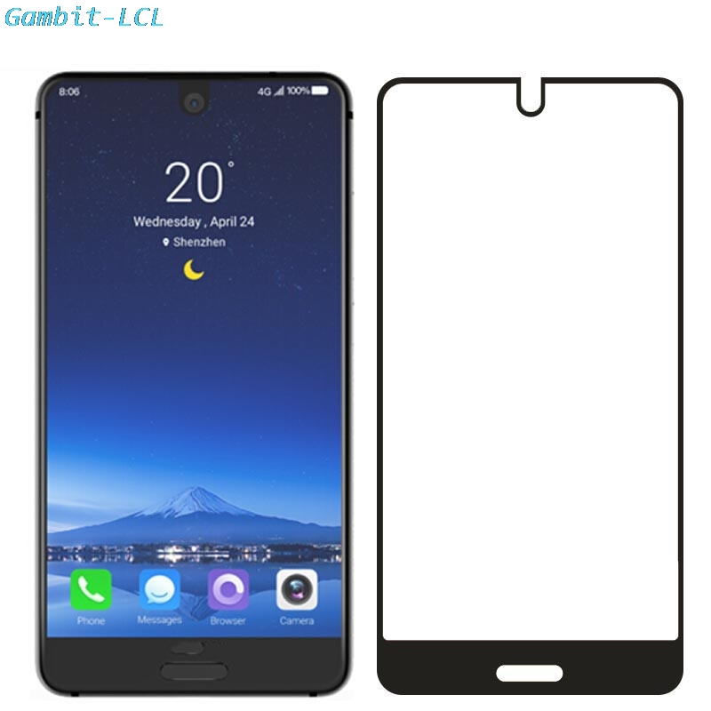 "For Sharp Aquos S2 / C10 5.5"" Glass Screen Protector Full Cover Tempered Glass Protective 9H 2.5D Glass Film"