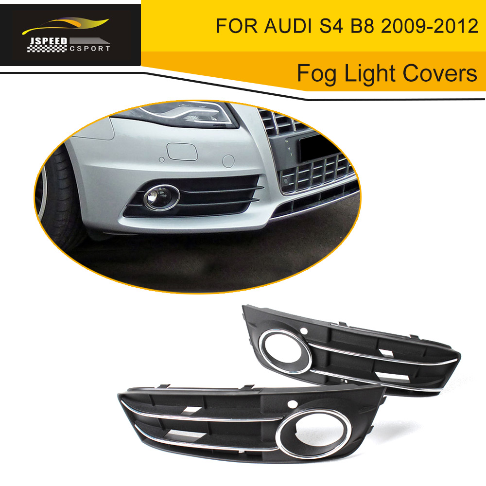 ABS Car Front Fog Lamp Mask Fog Light Covers Grill Grd For