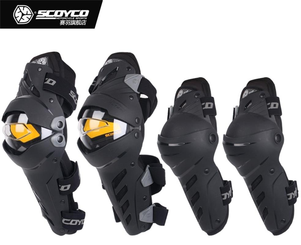 4pcs/set Upgrade Motorcycle Knee Protector Cycling Elbow Guard Motor knee pad Protective Gear Scoyco k17h17 7pcs xiaomi skating cycling helmet knee pads elbow wrist brace set