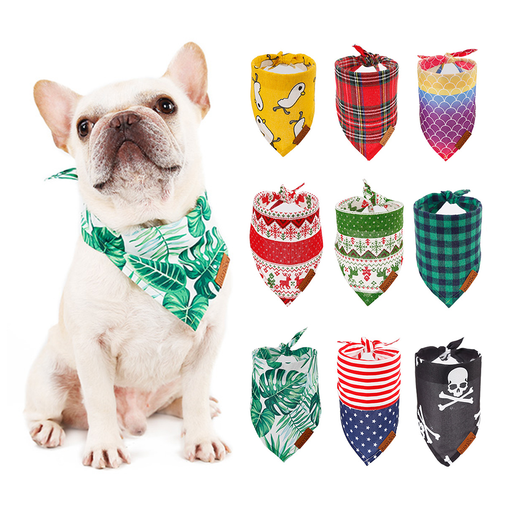 GLORIOUS KEK Dog Bandanas Cotton font b Pet b font Bandana Scarf for Small Medium Large