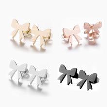 SMJEL – boucles d'oreilles à nœud papillon pour femmes, bijoux en acier inoxydable coréen, à la mode, cadeaux de fête