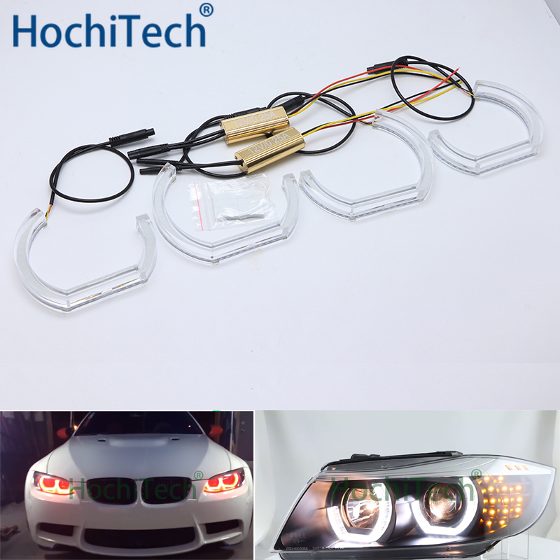 For BMW E36 3 Series Coupe and Cabriolet DTM M4 Style LED Angel Eye Kit Dual White Amber Switchback Turn Signal LightFor BMW E36 3 Series Coupe and Cabriolet DTM M4 Style LED Angel Eye Kit Dual White Amber Switchback Turn Signal Light