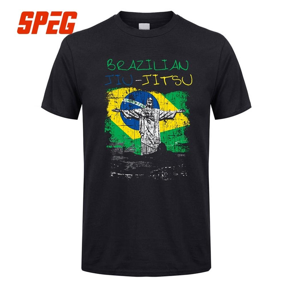 ffa3b8ef Omnitee Summer Gracie Jiu Jitsu T Shirt Short Sleeve Cotton Cool Gracie Fighter  T-shirt Camisetas Tshirt Mens Clothing OT-268