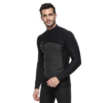 38697c67ca197 SBART 2-mm de neopreno superior de manga larga chaqueta de protección UV  nadar mono camisa windsurf Smoothskin chaquetas trajes de neopreno