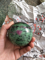 DHX SW about 5cm beautiful natural unakite sphere cabochon mineral specimen flower green stone ball reiki healing crystal stones