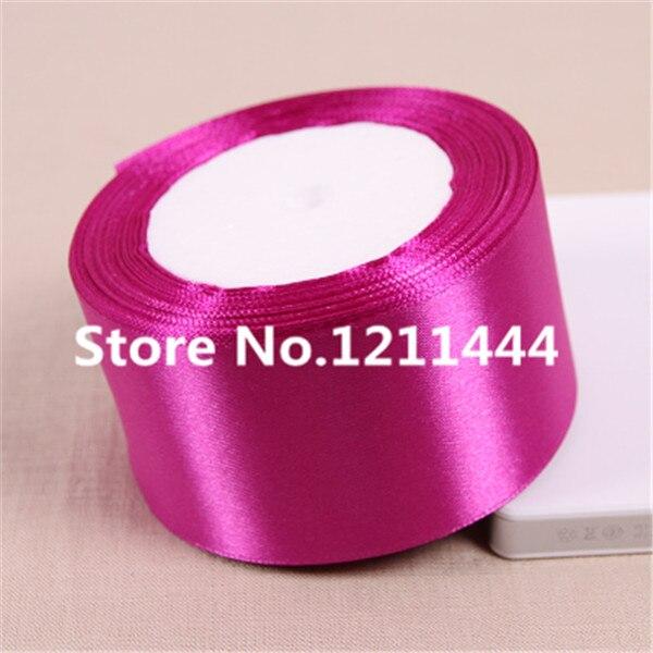 25 метров/рулон 50 мм 2 дюйма одноцветное фиолетовый розовый Ленты для свадьбы Аксессуары оптовая продажа подарочной упаковки ленты