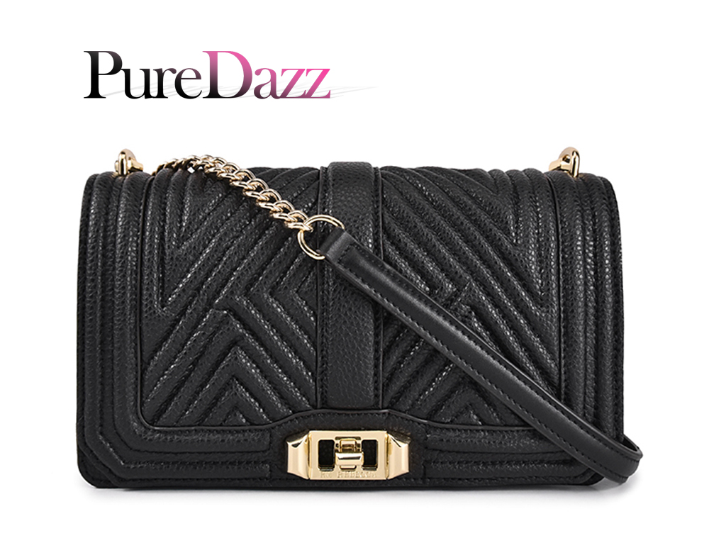 PureDazz Fashion Genuine Leather Shoulder Bag for Women Big Brand Women Crossbody Bag Diamond Lattice Bag with Gold Metal ChainPureDazz Fashion Genuine Leather Shoulder Bag for Women Big Brand Women Crossbody Bag Diamond Lattice Bag with Gold Metal Chain