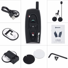 Motorcycle 500M Bluetooth Helmet Intercom Headset Wireless Interphone Earphone for 2 Riders Handsfree Headphone