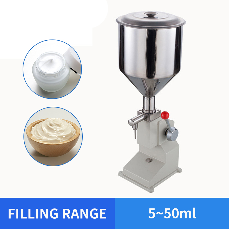 YTK 5~50ml Manual Food Filling Machine Small Paste Filling Machine Quantitative Liquid Filling Machine For Cream & Shampoo