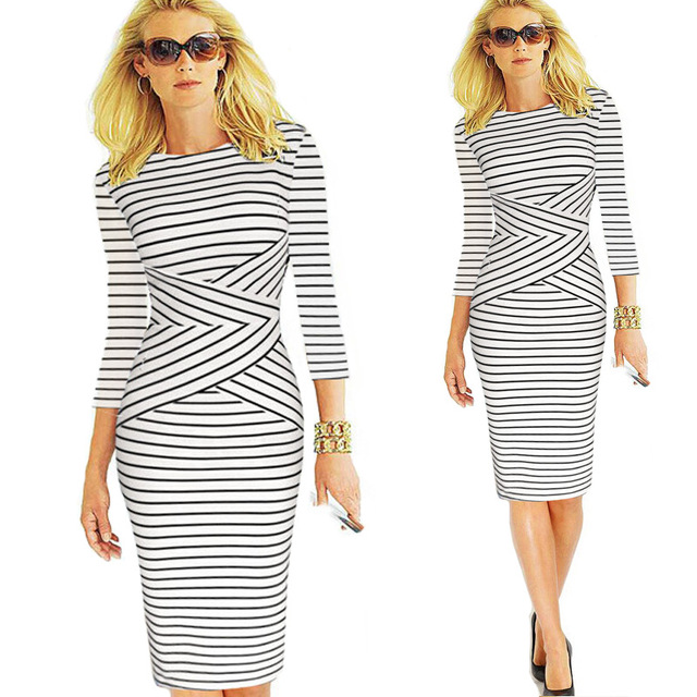 137c7675c4f Women s 2017 Spring Summer Wear to Work Office Business Casual Pencil Dress