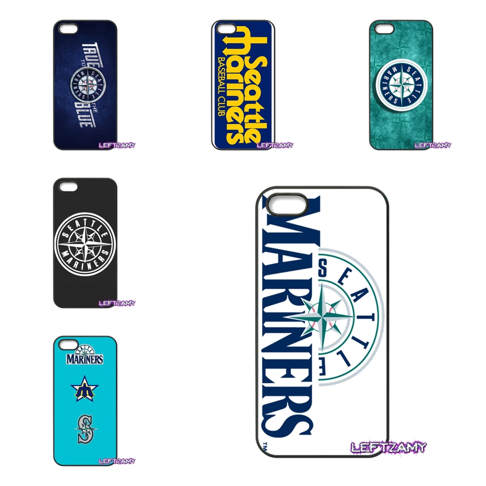 Логотип Сиэтл Маринерс жесткий чехол для телефона iphone 4 4S 5 5C SE 6 6 S 7 8 плюс x 4 ...
