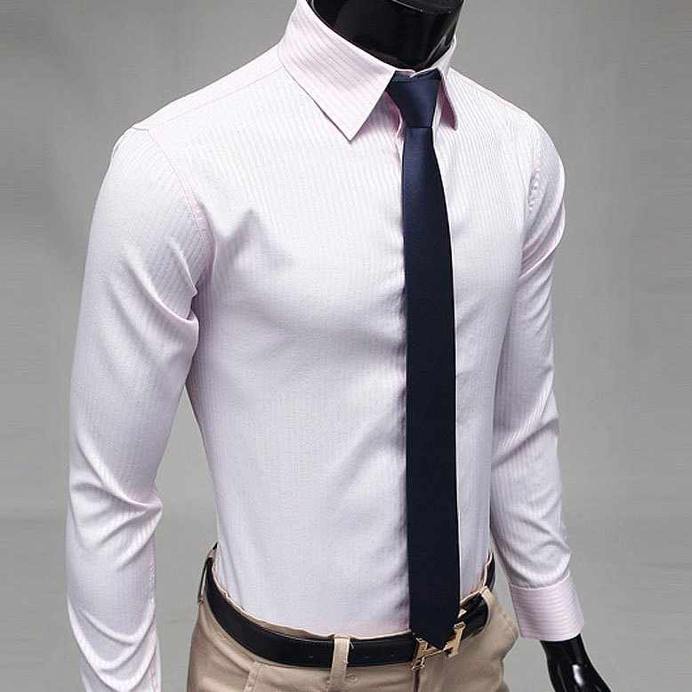Men's slim fit shirts in plaid look great with a pair of jeans, creating a semi-casual outfit. Wear black or red shirts with white pants to make a dramatic contrast. For an extra flair, accessorize with masculine silver chain jewelry.