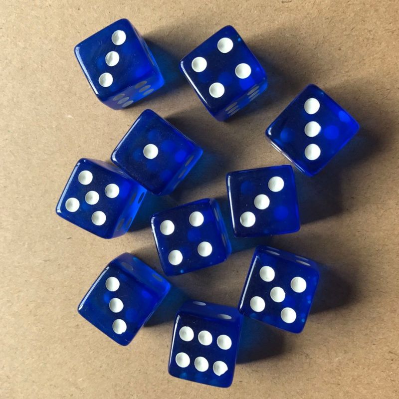 Families Dice 10pcs Spot 16mm Toys Six Role Sided Playing D6 Game RPG Accessories Transparent Drinking