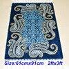 2x3ft Strip Turkish Silk Carpet Handmade Exquisite Persian Silk Rug Area Rugs Pray Carpets Bedroom